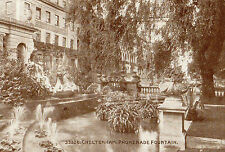 OLD POSTCARD - GLOUCESTERSHIRE - Cheltenham Promenade Fountain -Photochrom 33326