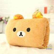Sale Rilakkuma San-X Bear 2in1 Plush Winter Warm Hand &Back Cushions Nap Pillow