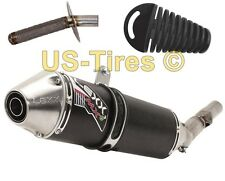 LEXX MXe SLIP ON EXHAUST SILENCER & MID PIPE. MUFFLER FOR HONDA TRX 400EX 400X