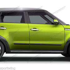 "BODY SIDE Moldings Trim Mouldings BLACK 2"" Wide PRE CUT! For: KIA SOUL 2014-2017"