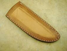 "Custom Leather Sheath-Fits 6"" Long Blade x 1-5/8"" Wide x 3/16""+Thick- Tan"