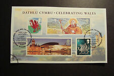 GB 2009 Commemorative Stamps~Wales M/S~Very Fine Used Set, on piece~UK Seller