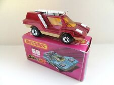 Matchbox Superfast 68b Cosmobile - Red/Tan/White - Mint/Boxed