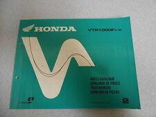 Catalogue de pieces parts catalog Honda VTR 1000 F v,w Model 1997-1998