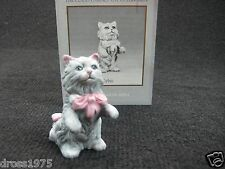 """Franklin Mint Curio Cabinet Cat Collection """"Cybis"""" with booklet Rare!"""