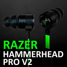 100% New Razer Hammerhead PRO V2 Gaming In-ear Headphones Headset With Mic