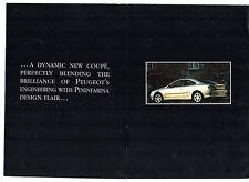 Peugeot 406 Coupe 1997 UK Market Launch Foldout Sales Brochure 2.0 3.0 V6