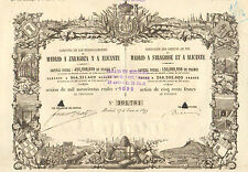Compania de los Ferro-Carriles de Madrid a Zaragoza y Alicante, accion, 1899