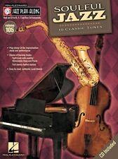 Jazz Play-Along soulful CLARINETTE SAXOPHONE SAX Musique Flûte bois Livre & CD