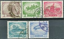 Austria War Scenes of 1915 Semi-Postal Issues Scarcer USED Set Scott's B3 to B7