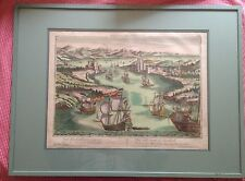 Superb Rare Scenic Map of Constantinople Dardanelles by Georg Probst c.1750