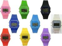 Classic Retro 80s Style Silicon Digital LCD Alarm Light Unisex Mens Womens Watch
