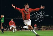 Signed Teddy Sheringham Manchester United 1999 Champions League Photo + Proof