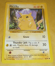 POKEMON TCG CARD - BASE SET - PIKACHU 58/102