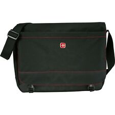 "Wenger Slim 15"" Laptop Computer EReader Travel Messenger Bag - Black"