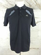 Men's Adidas Clima Cool Sports T Shirt Black Noir Classic Medium running (1127)