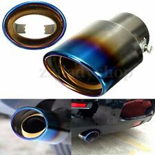 Car Stainless Steel Rear Burnt Exhaust Muffler Tail Pipe Tip Modification 140mm