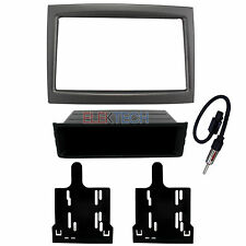 Radio Dash Mount Kit Silver Double/Single-DIN w/Pocket & Antenna for Porsche