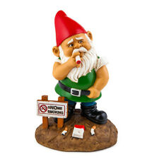 gNOme No Smoking Garden Gnome New for 2016 Novelty Funny Naughty Rude Sign