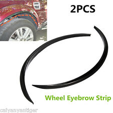 2×Fender Flare Wheel Arch Eyebrow Protector Strip Covers Mouldings Universal Kit