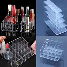 Clear 24 Trapezoid Makeup Display Lipstick Stand Cosmetic Organizer Holder UD