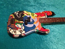 Super  painted Precision Fender American standard bass USA guitar vintage design