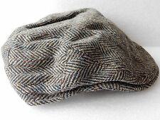 Vintage Donegal tweed flat cap mens country 59 Irish UK Size 7 1/4 hand woven