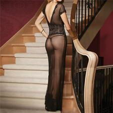 FREE SHIP-Women Sexy Lingerie Babydoll Sleepwear Sheer Dress G-string Nightwear