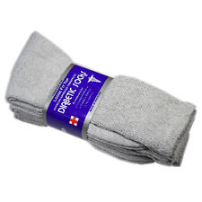 12 Pair's Diabetic Crew Loose Fit Top Socks Health Cotton Mens Size:9-11 Gray