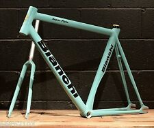 New 2016 Bianchi Super Pista 59 CM Frameset Celeste Track Bicycle Frame Fork