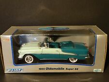 Welly 1955 Oldsmobile Super 88 Convertible 1:18 Scale Diecast Metal Model Car