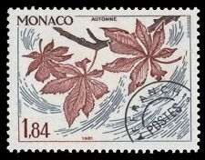 "MONACO 1214 (Mi1462) - Trees ""Chestnut Branch in Fall"" Precancel (pa12940)"