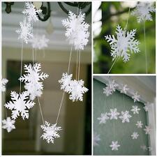 XMAS White Snowflake Ornaments Christmas New Year Wedding Party Decorations - LD