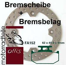 Rear Brake Disc + brake pads-Suzuki DR 350 SH-stainless-Free shipping