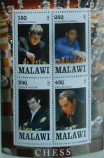 ** Famous Chess Players - mini sheet - Malawi 2013  #E026