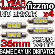 4x 36mm 239 272 Sv8.5 6000k Blanco Brillante 3 Smd Led Festoon bombilla libre de errores