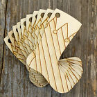 10x Wooden Christmas Present Stockings Craft Shapes 3mm Plywood Xmas Decoration