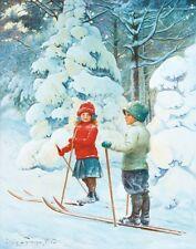 Nystrom Jenny Skiing Children Print 11 x 14   #3430