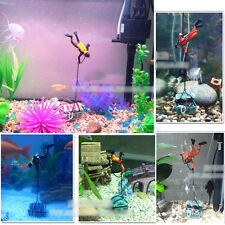 Hunter Treasure Figure Action Fish Diver Tank Ornament Aquarium Decor Landscape