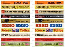 SUBBUTEO 20 OLD ADVERTISING STICKERS for FENCE