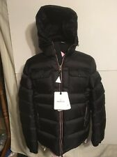 Moncler Men's Demar Hooded Quilted Down Puffer Jacket Black Sz 2 S/M 48eu NWT