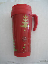 2006 Starbucks Red Collectible Christmas Tumbler Travel Mug w/Handle-12oz-NEW