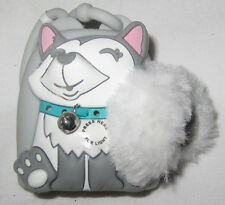 Bath & and Body Works Light-up Lighted PocketBac Holder Grey Husky Puppy Dog NEW