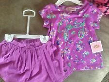 nwt $48 juicy couture 12/18 mos skirt/top set outfit baby girl gift lilac floral