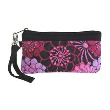 Wristlet Quilted Inspirations Pastel Flowers Pink Purple Purse Accessory