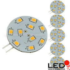 G4 Base Side-Pin Disc Type LED Bulb with 10xSMD2835 10-30VDC 1.8W (6-Pack)