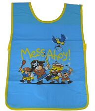 Bugzz Kids Blue Pirate Tabard Childrens Childs Boys Fun Painting Cooking Apron
