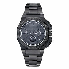 JBW Knox Multi-Function Black Crystal Pave Dial Mens Watch J6329C