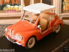 RENAULT 4CV DECAPOTABLE R1062 GHIA JOLLY 1961 ELIGOR 1/43 HACHETTE ROSE SAUMON