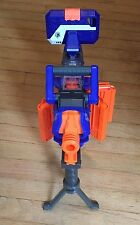 Nerf N-Strike Elite Hail Fire Dart Gun + 4 Clips 20 Darts Tripod Camera Mount